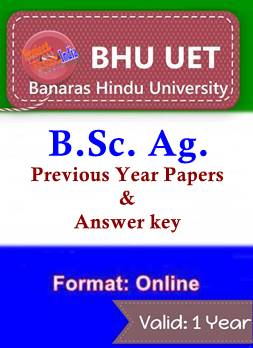 BHU UET BSc Ag 8 Years Question Paper & Answer Key